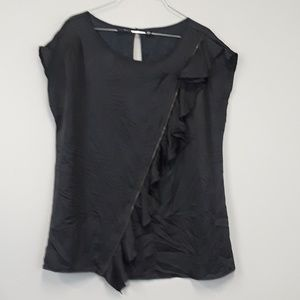 A New Approach black ruffled blouse size XL